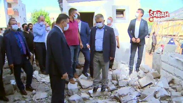 Antalya Valisi Ersin Yazıcı dolu ve fırtınadan etkilenen bölgede incelemelerde bulundu | Video