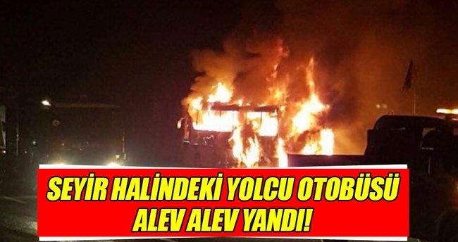 Ankara'da yolcu otobüsü alev aldı: Yaralılar var