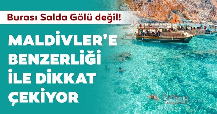 Burası Salda Gölü değil! Türkiye'nin Maldivler'i olarak biliniyor... Doğal güzellik havadan görüntülendi!