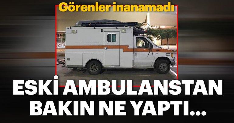 Eski bir ambulanstı! Son halini görenler inanamadı
