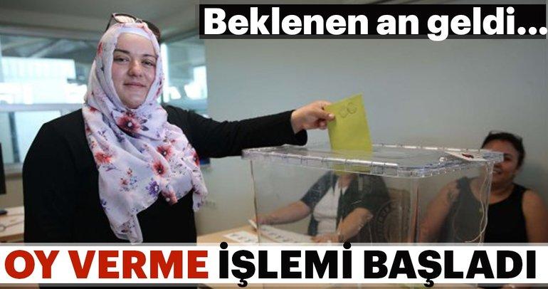 İlk oy verme işlemi başladı