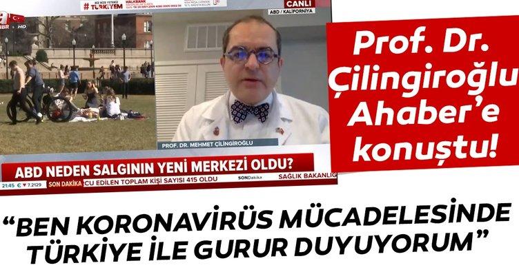 Prof. Dr. Çilingiroğlu A Haber'de konuştu: Ülkemle gurur duyuyorum
