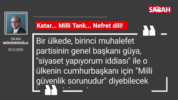 Okan Müderrisoğlu | Katar... Milli Tank... Nefret dili!