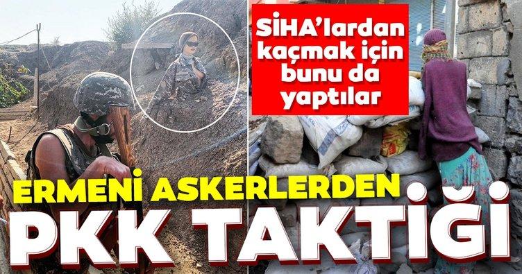 Son dakika haberi: Azerbaycan ordusu karşısında çaresiz kalan Ermeni askerinden PKK taktiği!