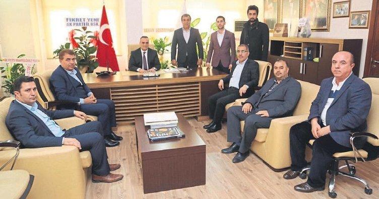 Çelikcan'dan ilçe başkanlarına ziyaret