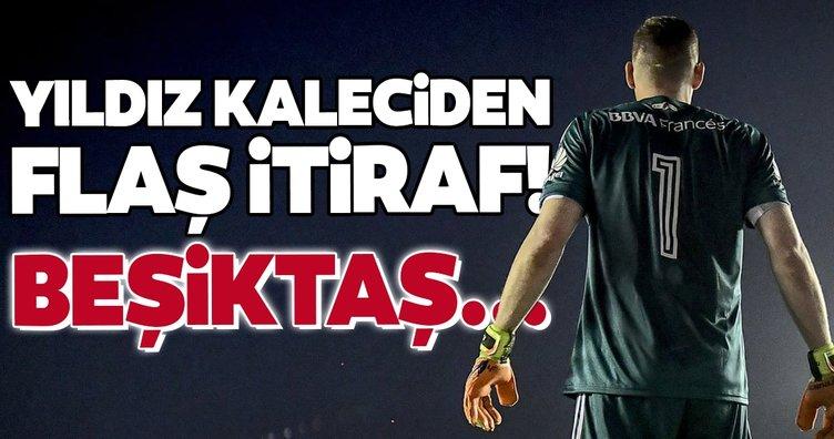 Yıldız kaleciden flaş itiraf! Beşiktaş...