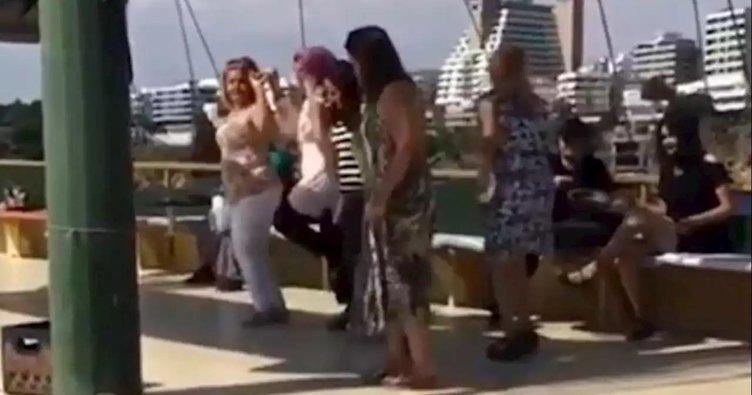 Tur teknesinde koronavirüse rağmen halay çektiler