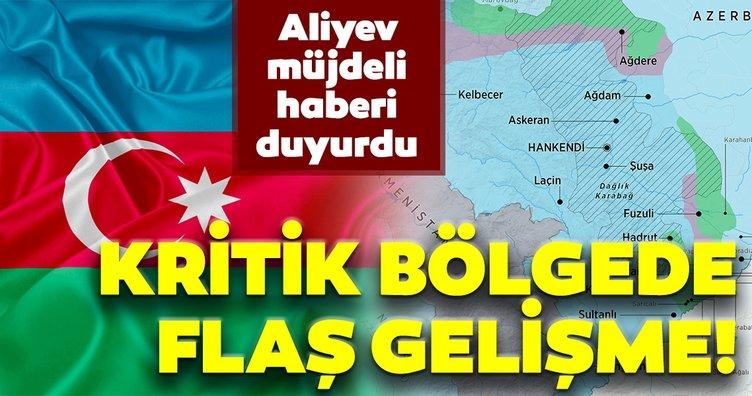 Son dakika haberi: Aliyev bu sözlerle duyurdu! Tarihi köprüye Azerbaycan bayrağı dikildi