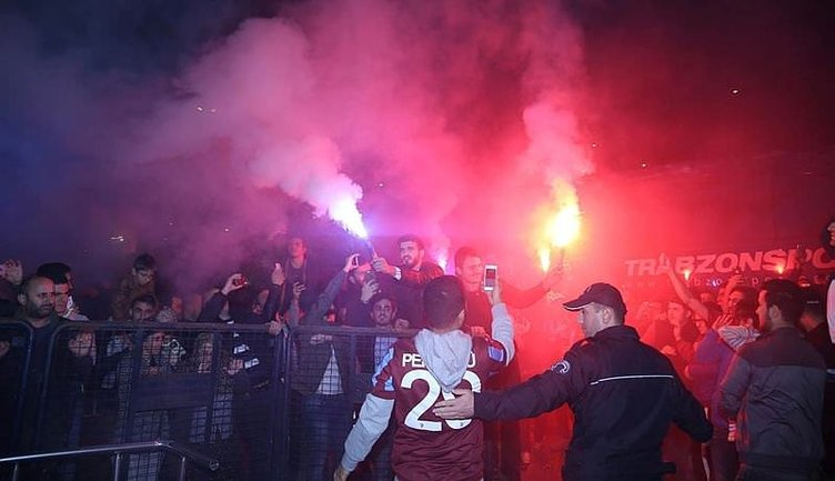 Trabzonspor'a müthiş karşılama