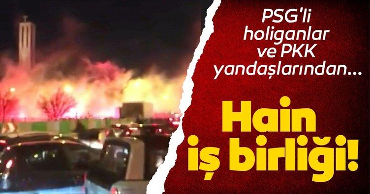 PSG'li holiganlar ve PKK yandaşlarından hain iş birliği!