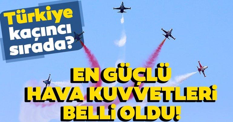 Dünyanın en güçlü hava kuvvetleri sıralaması belli oldu! İşte Türkiye'nin sıralaması…