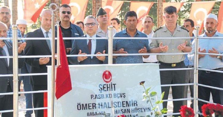 Şimşek'in ilk ziyareti Halisdemir'in kabrine