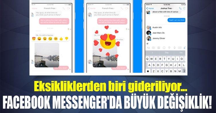 Facebook Messenger'da büyük değişiklik!