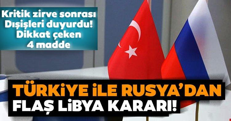 Son dakika: Türkiye'den Rusya ile Libya görüşmeleriyle ilgili flaş açıklama