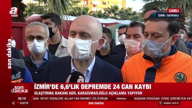 Son dakika! Ulaştırma ve Altyapı Bakanı Adil Karaismailoğlu'dan İzmir'de deprem bölgesinde önemli açıklamalar | Video