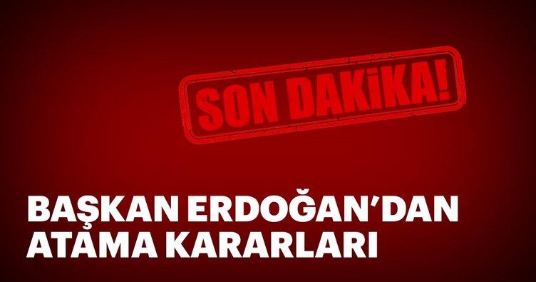 Başkan Erdoğan'dan yeni atama kararları
