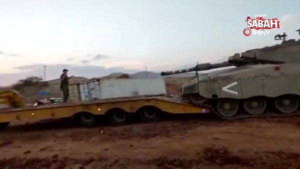 İsrail ordusuna ait Merkava tankının devrilerek takla attığı görüntüler sosyal medyada olay oldu | Video
