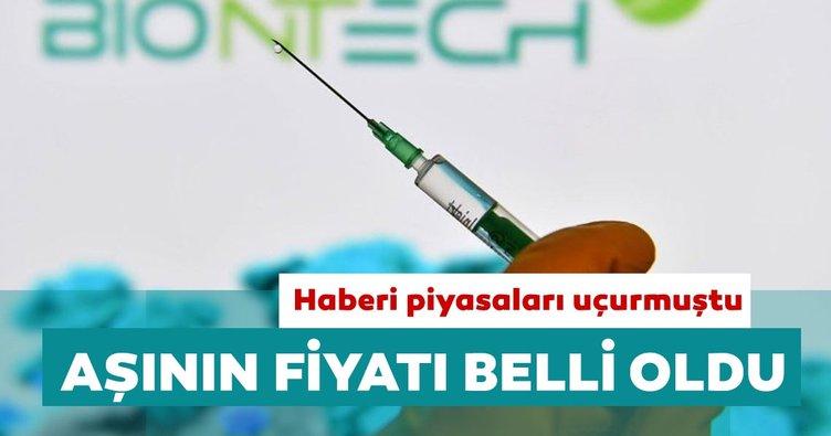 Son dakika: 'Koronavirüs aşısı'nın fiyatı belli oldu! Covid-19 aşısı haberi piyasaları çoşturmuştu