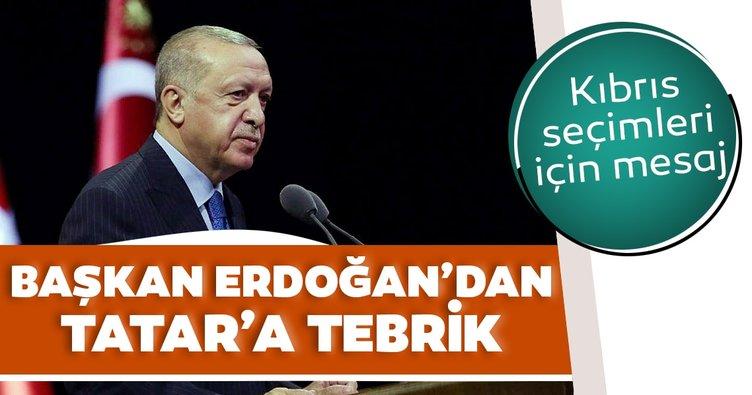 Son dakika: Başkan Erdoğan'dan Tatar'a tebrik