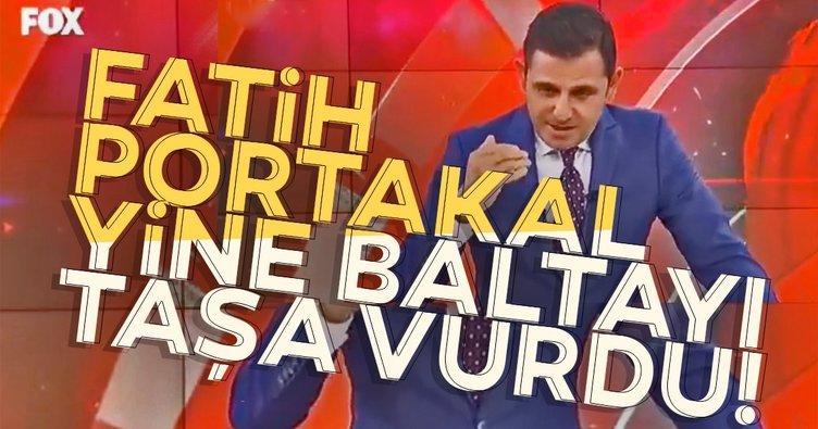 FOX TV'nin sunucusu Fatih Portakal yine baltayı taşa vurdu!