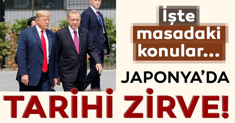 Japonya'da tarihi zirve! Başkan Erdoğan Putin ve Trump ile görüşecek