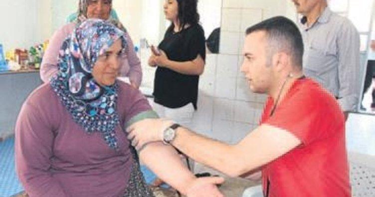 Duyarlı köylüler kan bağışı yaptı