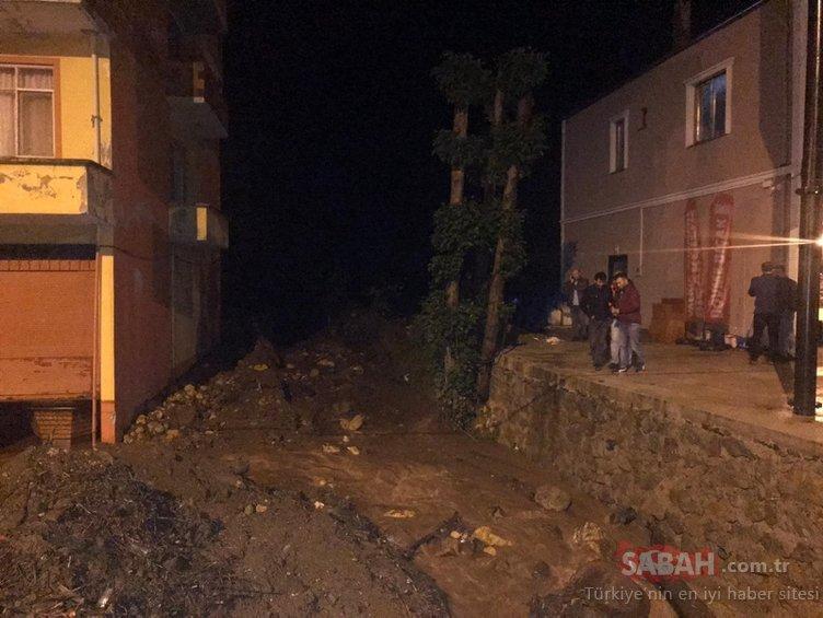 Trabzon'daki şiddetli sağanak Araklı ve Arsin'de hasara yol açtı