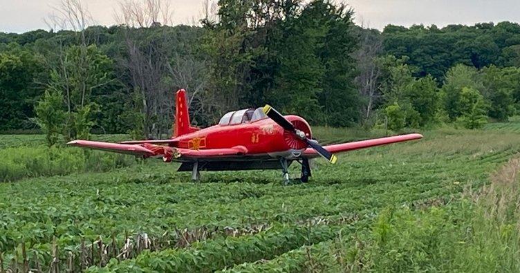 Kanada'da şoke eden ölüm! Çim biçerken uçak çarpınca…