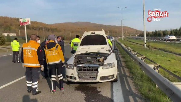 TEM otoyolunda feci kaza: 1 ölü, 2 yaralı | Video