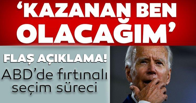 Son dakika: ABD'de Demokrat aday Joe Biden'dan yeni açıklama! Kazanan ben olacağım
