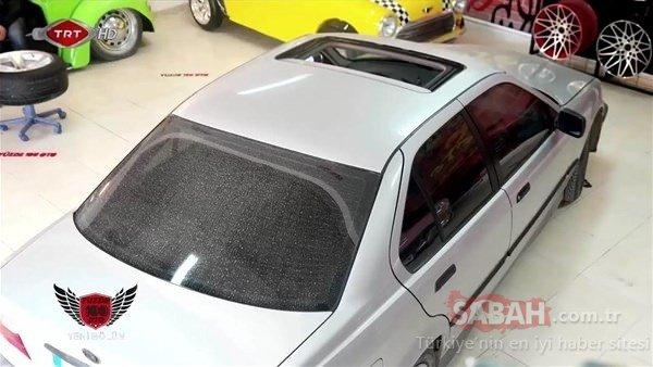 BMW'sini o halde görünce inanamadı!
