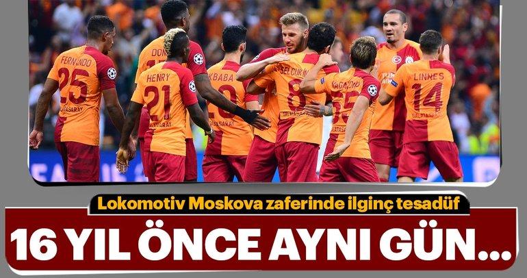 Galatasaray'ın Lokomotiv Moskova zaferinde ilginç tesadüf