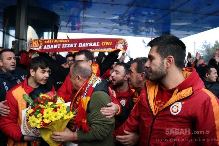 Bolu'da Galatasaray izdihamı! Devreye polis girdi