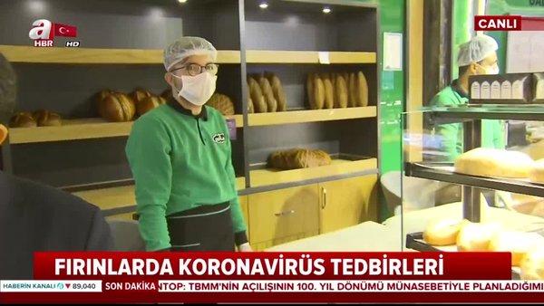 Fırınlarda koronavirüs tedbirleri... Müşteri ekmeğe temas etmeyecek   Video