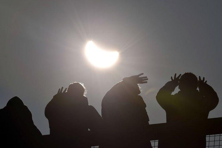 Güneş tutulması böyle gerçekleşti - 20.03.2015