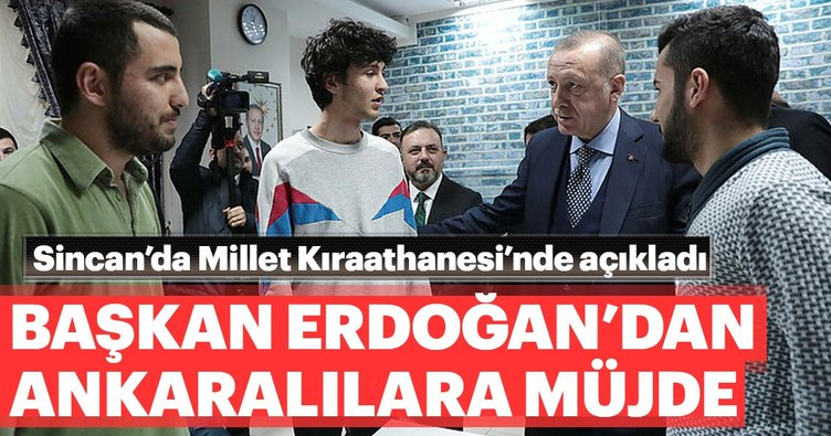 Başkan Erdoğan'dan Ankara'ya metrobüs müjdesi