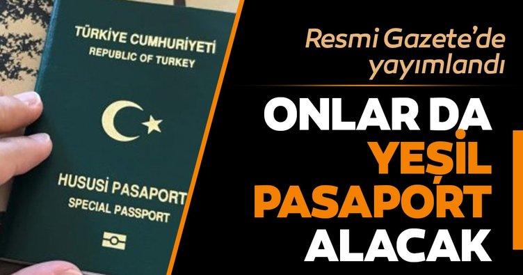 Avukatlara yeşil pasaport düzenlemesi Resmi Gazete'de