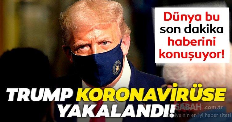 Son Dakika Haberi: ABD Başkanı Donald Trump ve eşi Melenia Trump'ın koronavirüs testleri pozitif çıktı!