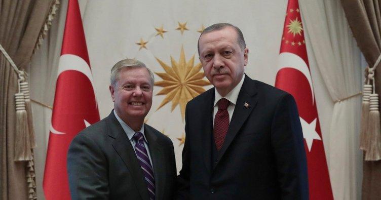 Cumhurbaşkanı Erdoğan Lindsey Graham'ı kabul etti