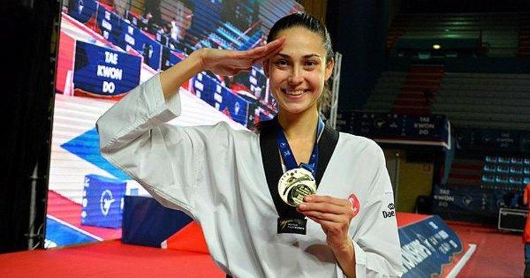 İrem Yaman Avrupa şampiyonu! Altın madalyayı aldı, asker selamını verdi