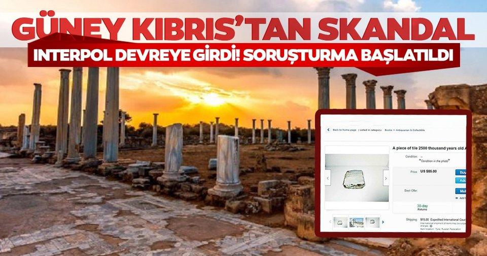 Τα μάρμαρα που ανήκουν στα ερείπια της Σαλαμίνας στην ΤΔΒΚ διατέθηκαν προς πώληση σε απευθείας σύνδεση στην ελληνική περιφέρεια