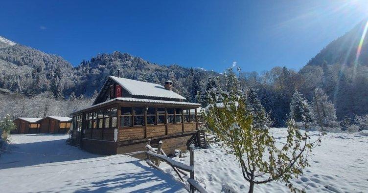 Ayder'de mevsimin ilk karı