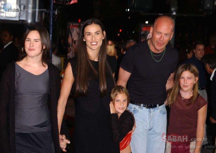 Bruce Willis ile Demi Moore'un kızı güzelliğiyle geceye damga vurdu!