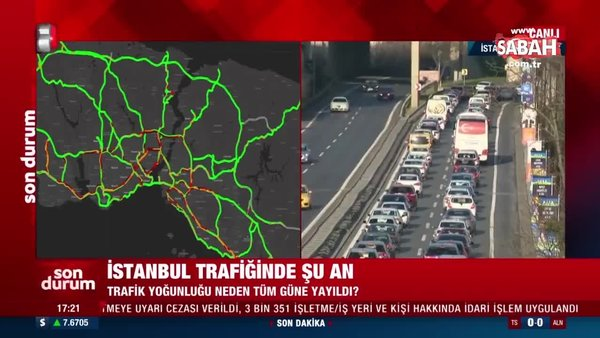 İstanbul trafiğinde son durum | Video