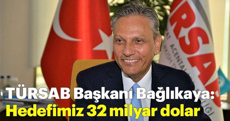 TÜRSAB Başkanı Bağlıkaya: Hedefimiz 32 milyar dolar