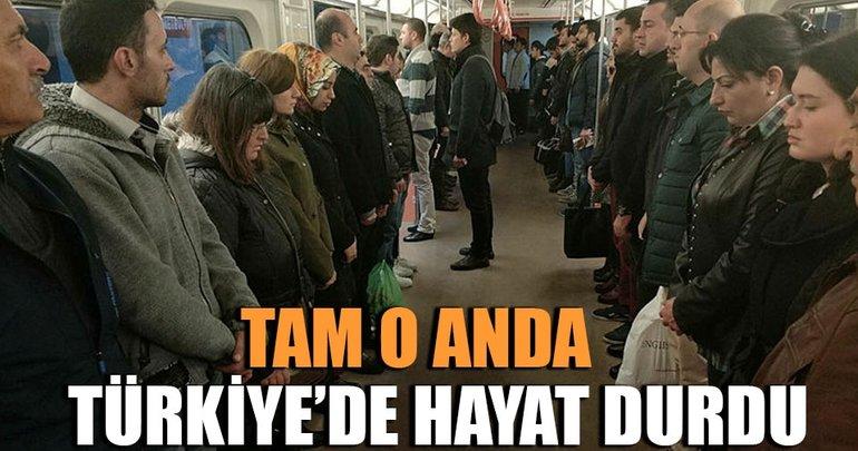 Saat 09.05'te tüm Türkiye'de saygı duruşu