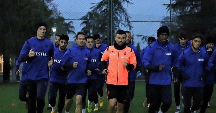 Trabzonspor'da Büyükşehir Belediye Erzurumspor maçı hazırlıkları sürüyor