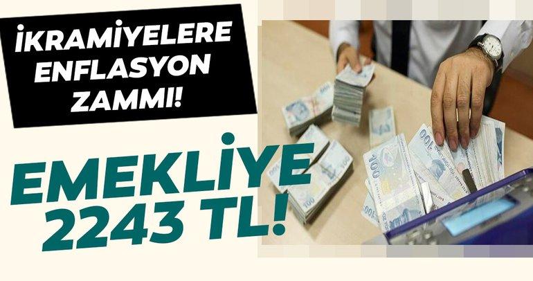 Emekliye ikramiyesine enflasyon zammı! Emekliye yeni yılda 2243 TL zam!