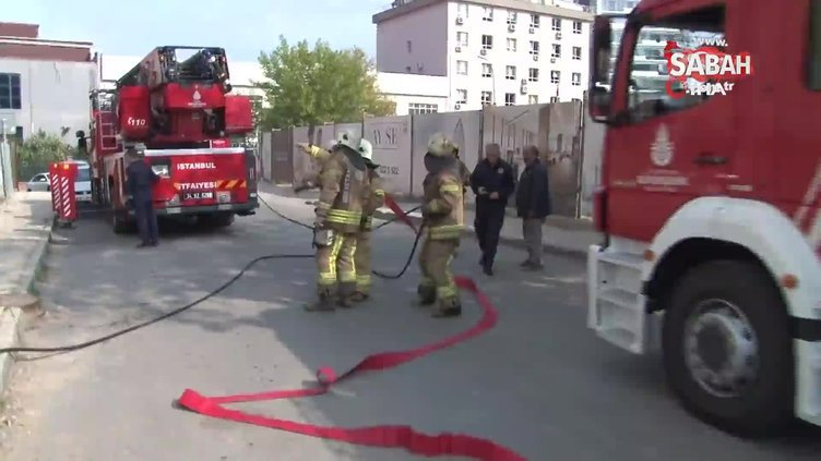Ataşehir'de 21 katlı inşaatta yangın paniği