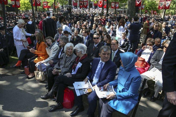 Cumhurbaşkanı Gül oğlunun mezuniyetine katıldı